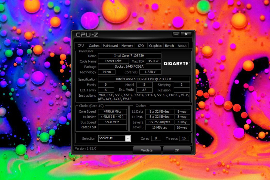 處理器採用最新英特爾第10代Core i7-10875H(2.3GHz-5.1G...