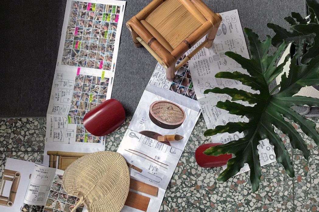 范承宗向老師傅學習傳統工藝技法時,詳細記錄步驟,並以Form(形狀)、Mater...
