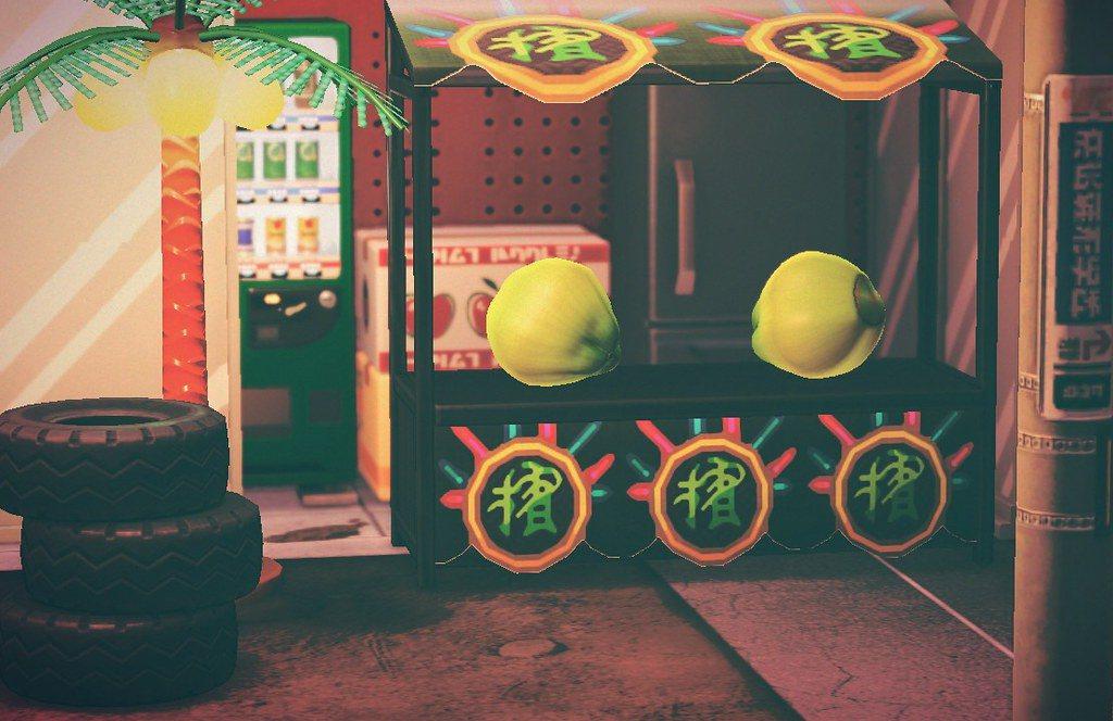 檳榔攤的生態位置在路邊,電線竿和輪胎堆提供線索,棕櫚燈帶來霓虹,椰子則畫龍點睛。