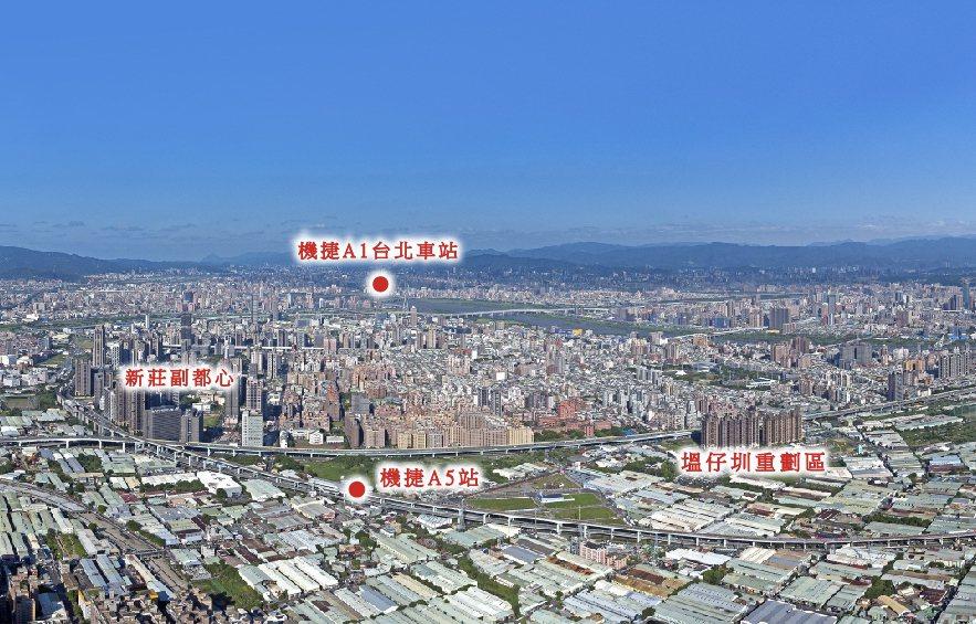 宏匯集團沿著機場捷運線布局,看中的就是台北、新莊「雙北雙國門」定位。記者陳美玲/...