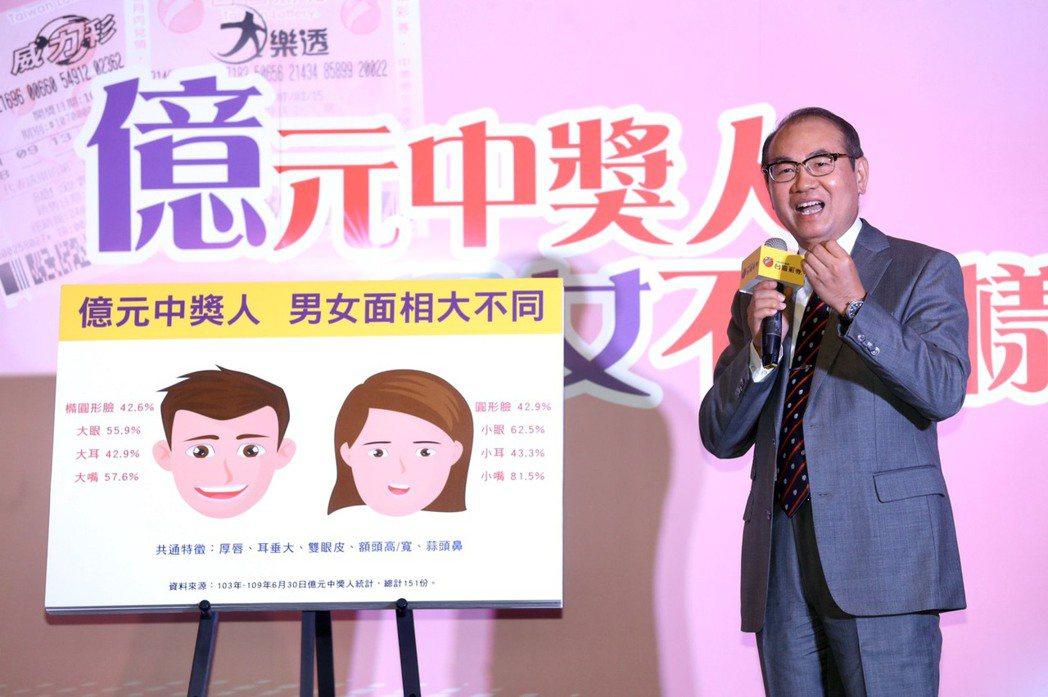 台灣彩券首度揭秘151位億元中獎人的特徵統計資料,其中男、女性的面相大不相同。記...