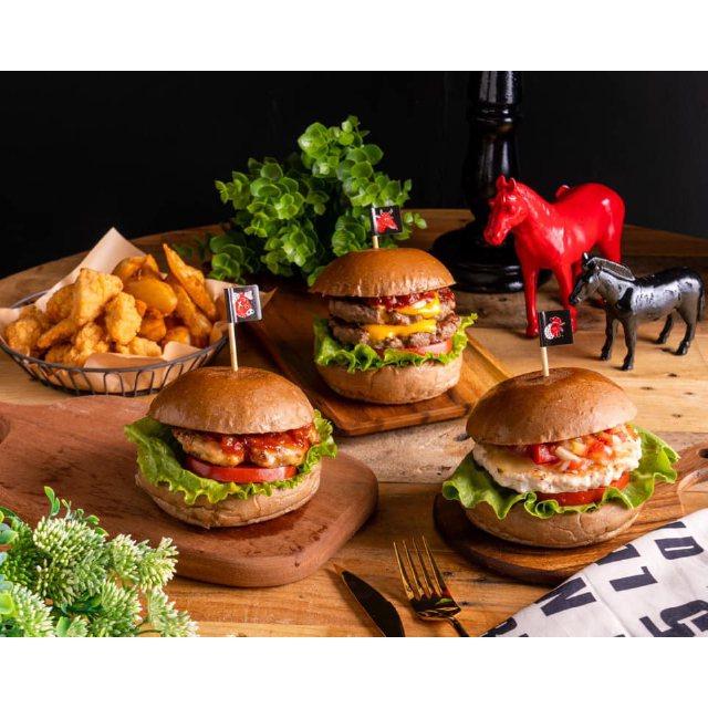市集美食,miniB手作漢堡。圖/新光三越提供