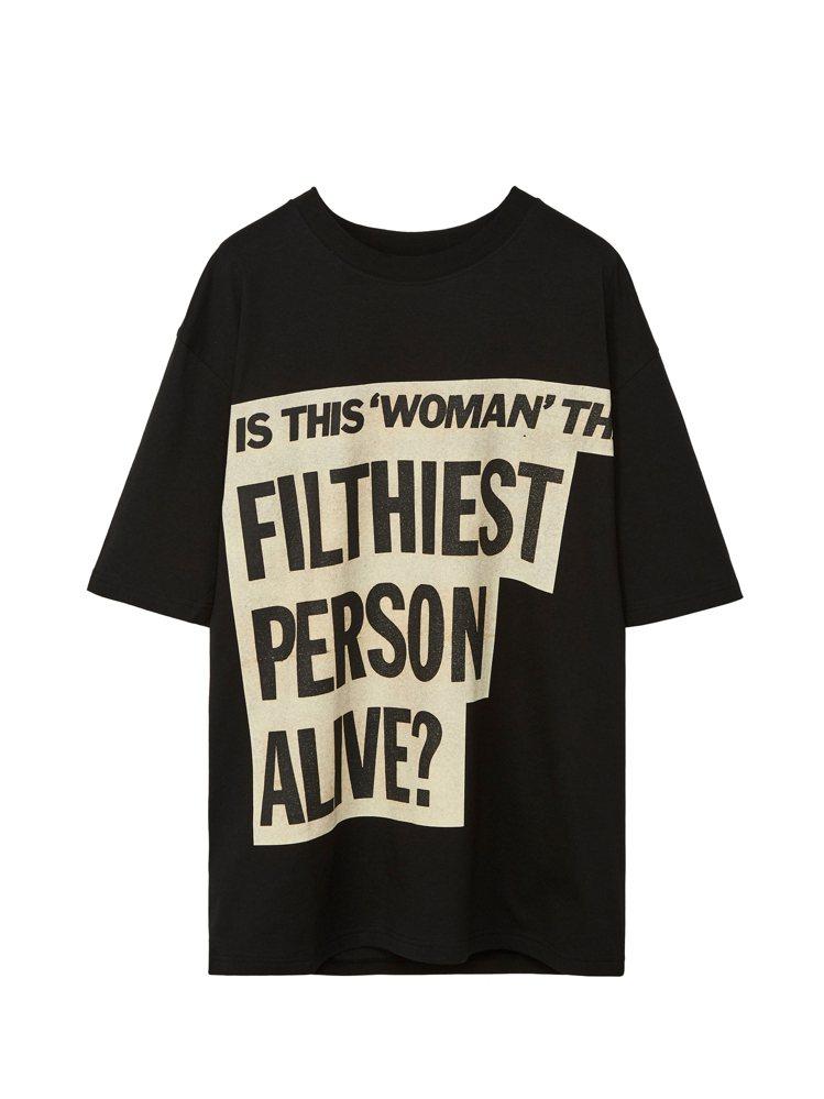 黑色Divine Filthiest Person T恤,8,800元。圖/LO...