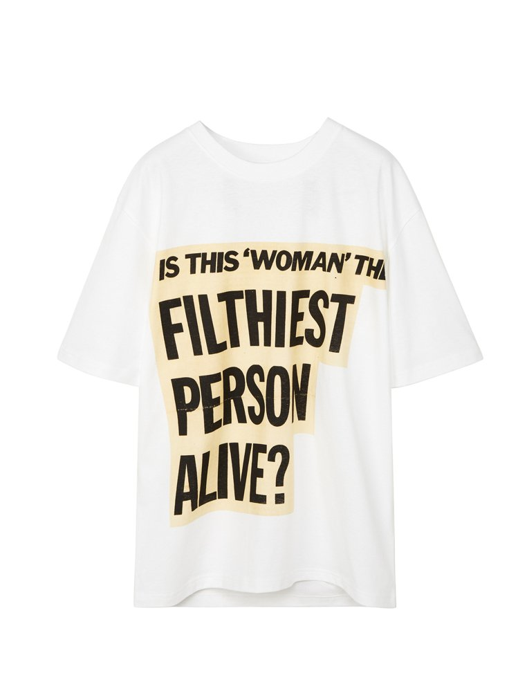白色Divine Filthiest Person T恤,8,800元。圖/LO...
