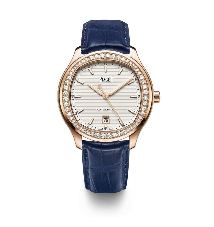 PIAGET,Polo系列18K玫瑰金鑲鑽自動上鍊腕表,128萬元。圖 / PI...