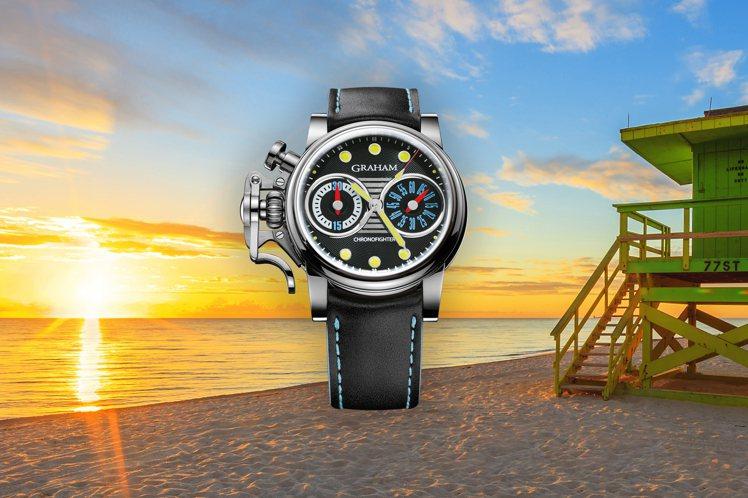 Graham,戰機復古系列限量「次魟」腕表,精鋼,44毫米,時間顯示,計時碼表,...