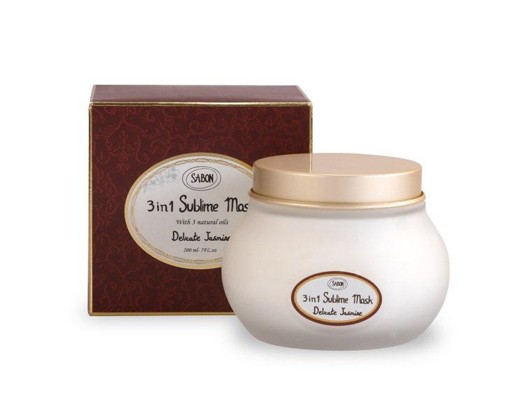 SABON茉莉花語三合一修護髮膜200ml/1,480元。圖/SABON提供