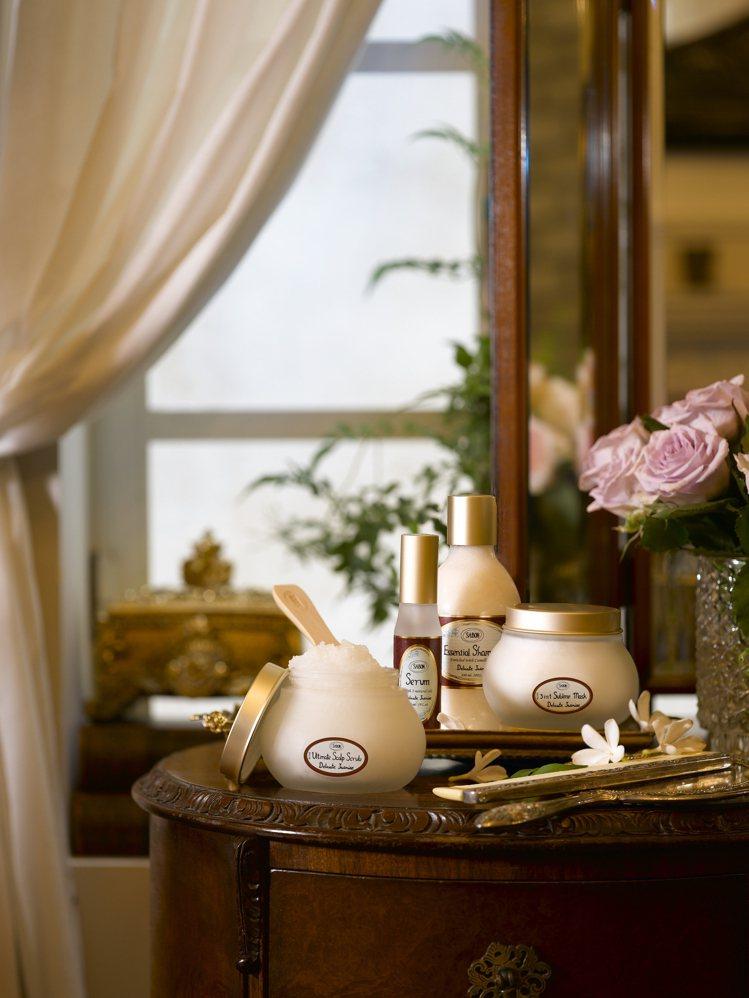 SABON植系髮肌護理系列:茉莉花語、以色列綠玫瑰同步上市。圖/SABON提供