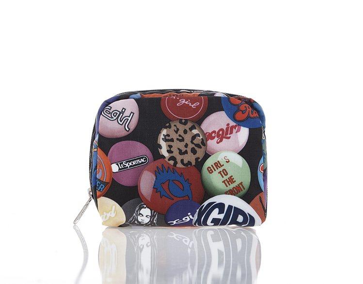 滑板女孩方形化妝包,1,300元。圖/LeSportsac提供