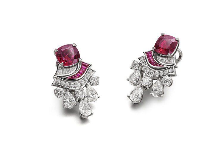 BVLGARI Barocko系列Ruby Drapery頂級紅寶石與鑽石耳環,...