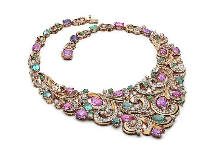 BVLGARI Barocko系列 Lady Arabesque頂級彩寶項鍊,價...