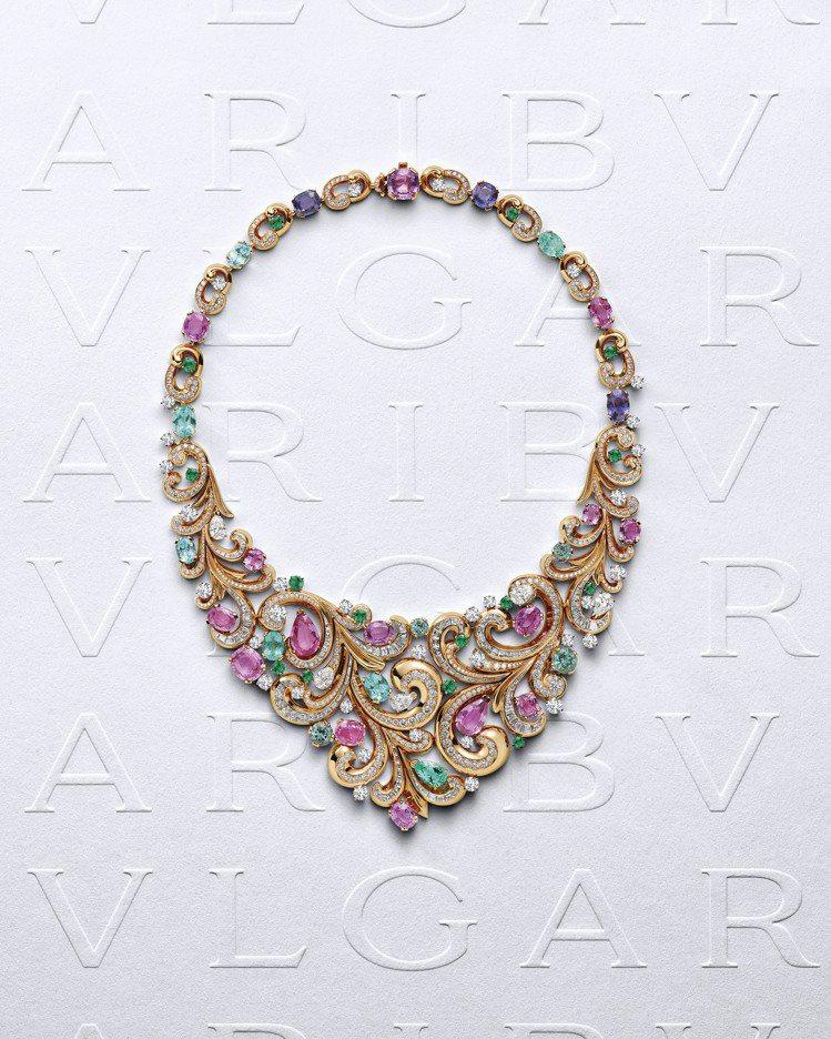 BVLGARI Barocko系列Lady Arabesque頂級彩寶項鍊,價格...