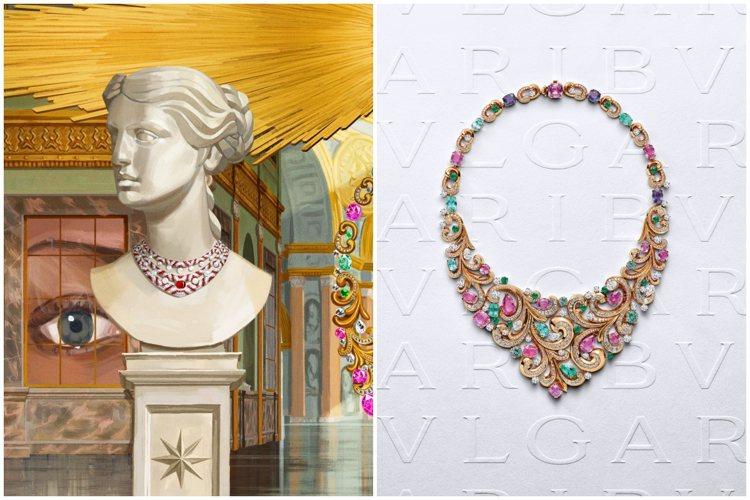 寶格麗發表Barocko系列頂級珠寶,濃縮巴洛克建築美學。圖/寶格麗提供