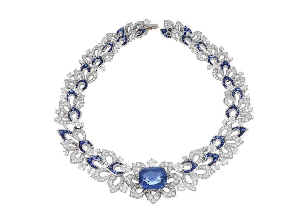 BVLGARI Barocko系列Blue Fantasy頂級鑽石與藍寶石項鍊,...