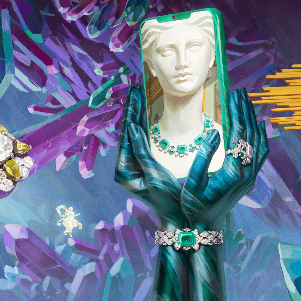 寶格麗攜手西班牙藝術家 IGNASI 詮釋當代巴洛克畫作。圖/寶格麗提供