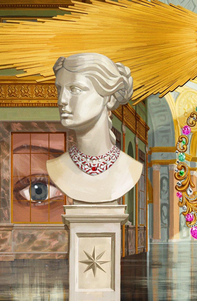 寶格麗攜手西班牙藝術家IGNASI以當代巴洛克畫作詮釋Rosso Caravag...