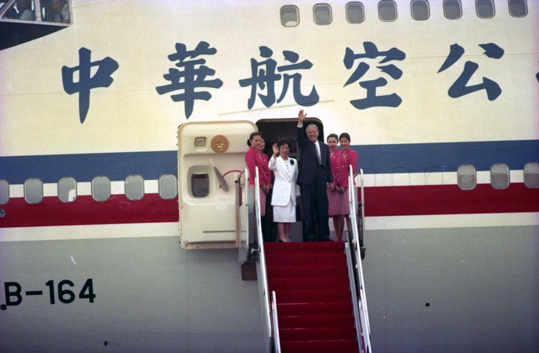 1995年李登輝赴康乃爾大學,成為美國與中華民國斷交後首位訪美的現任元首,受到國際高度關注。 圖/聯合報系資料照