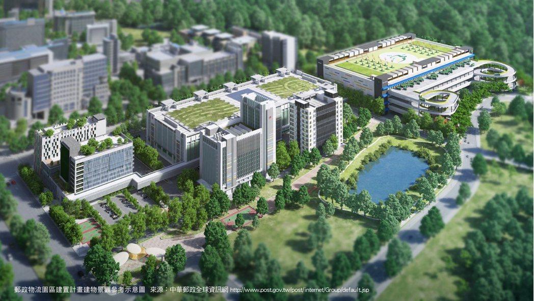 斥資220億元資金打造「中華郵政物流園區」複合式營運中心。 (中華郵政全球資訊網...