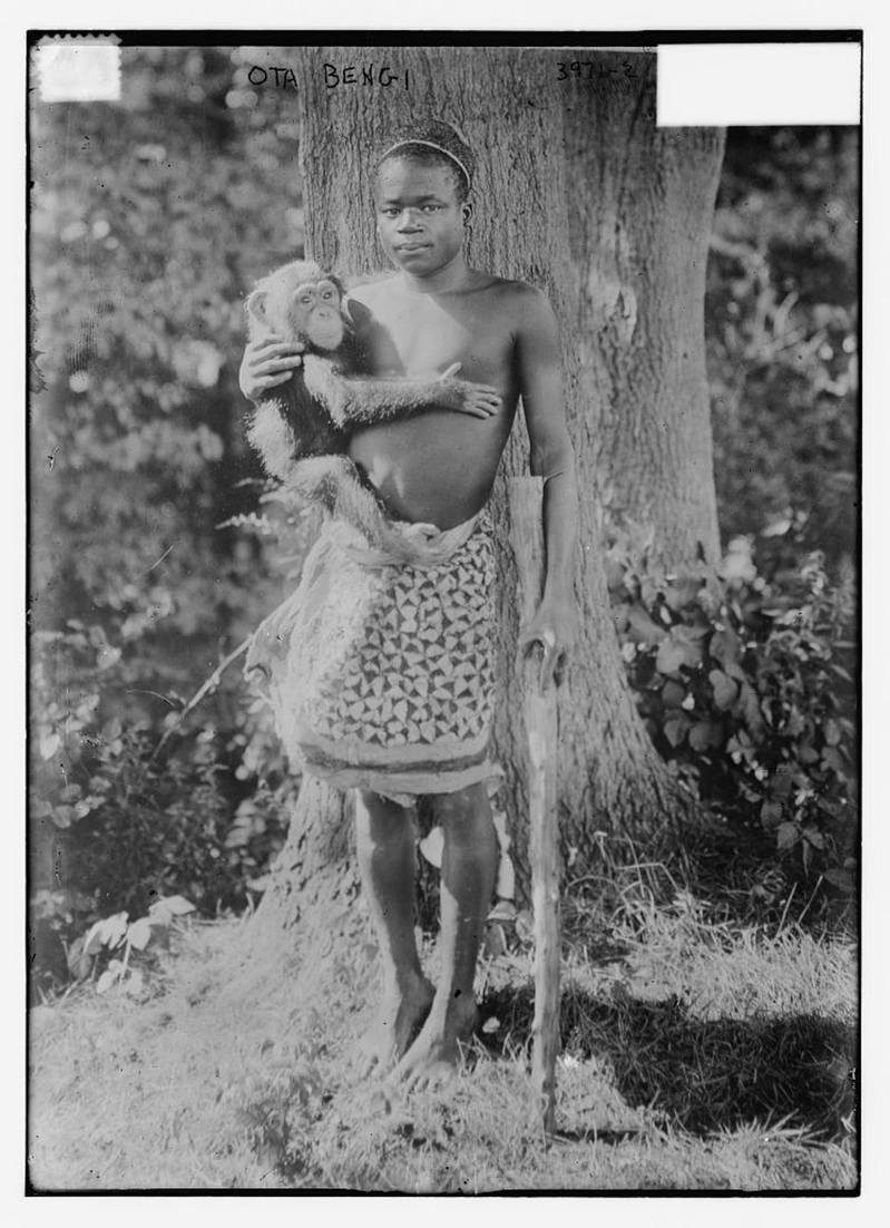 圖為非裔男子本加(Ota Benga)。 圖/美國國會圖書館網站