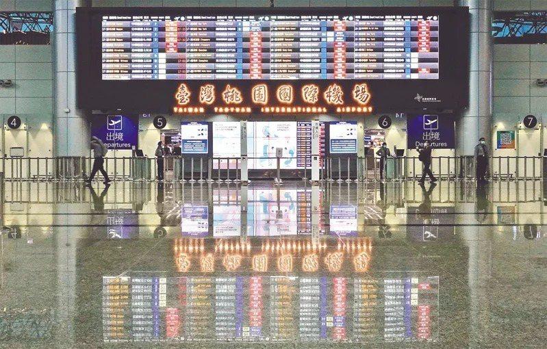 新冠肺炎衝擊全球航空業,國際航線幾乎全面停擺,業者只能出奇招自救。圖為桃園國際機...
