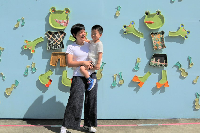 以臺北樹蛙為發想的《冬季戀歌》,林盼妮將蝌蚪幻化為音符,充滿童趣可愛。 陶博館/...