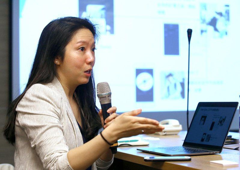 Uber Eats台灣區總經理李佳穎昨表示,疫情發生時,民眾的生鮮花費比外食還多。記者高彬原/攝影