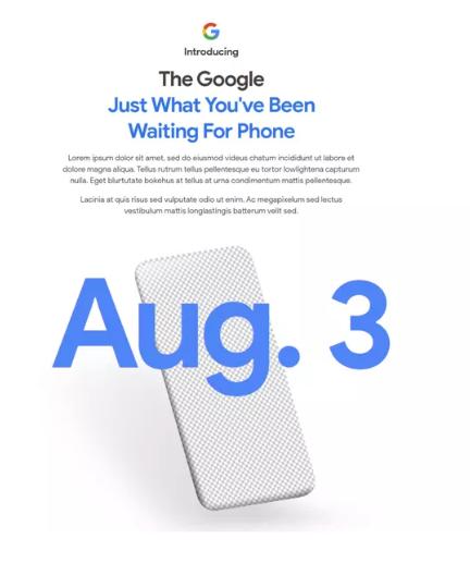 Google預告8月3日推出新一代智慧手機Pixel 4A。網路照片