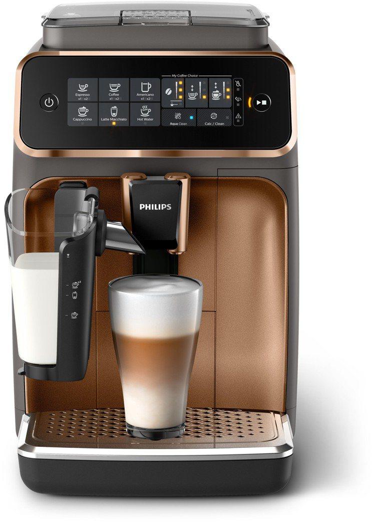 飛利浦EP3246全自動義式咖啡機,首創無管線奶泡系統,香檳金配色34,900元...