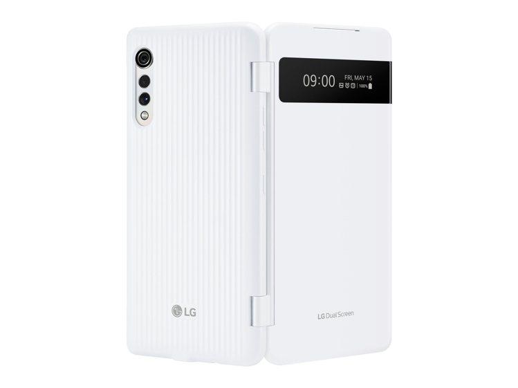 LG首款白色Dual Screen外觀以霧面質感融合細膩珠光,搭載6.8吋20....