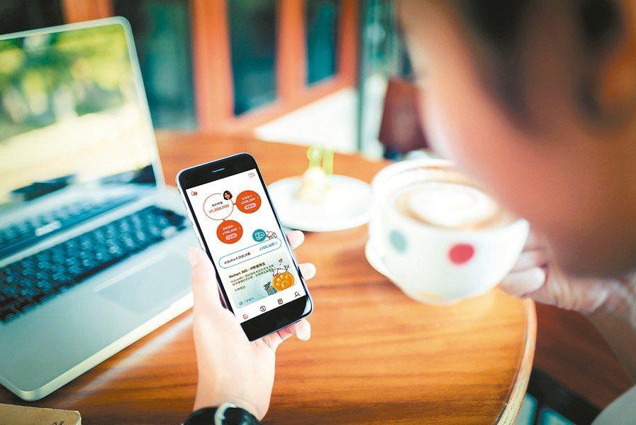 中華信評報告,疫情採取的社交距離措施,正加速台灣各銀行的數位轉型過程。(本報系資...