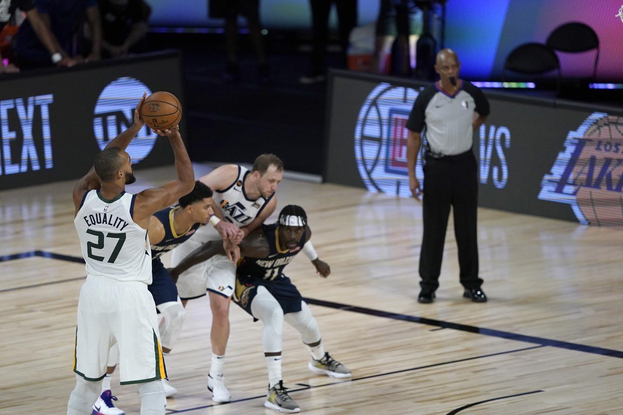 NBA/復賽首戰寫神劇本 戈貝爾:像受到上天眷顧