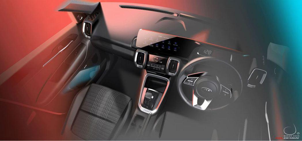 全新小休旅Kia Sonet內裝將進入精緻路線。 摘自Kia