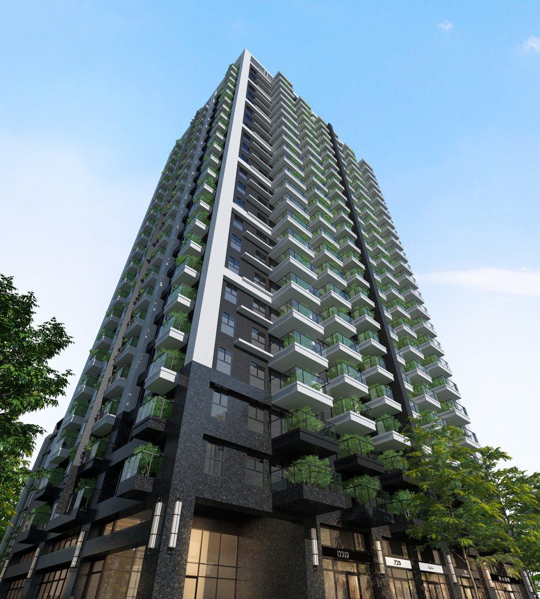 「皇普摩天100」,地上24樓、地下5樓,21至39坪,二至三房首購輕豪宅。 圖...