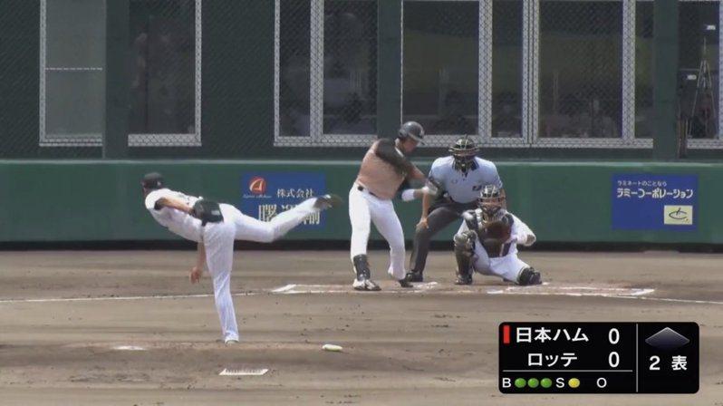 旅日台將王柏融今天續在日本火腿二軍出賽,擔任四棒又敲出雙安。 截圖自推特影片