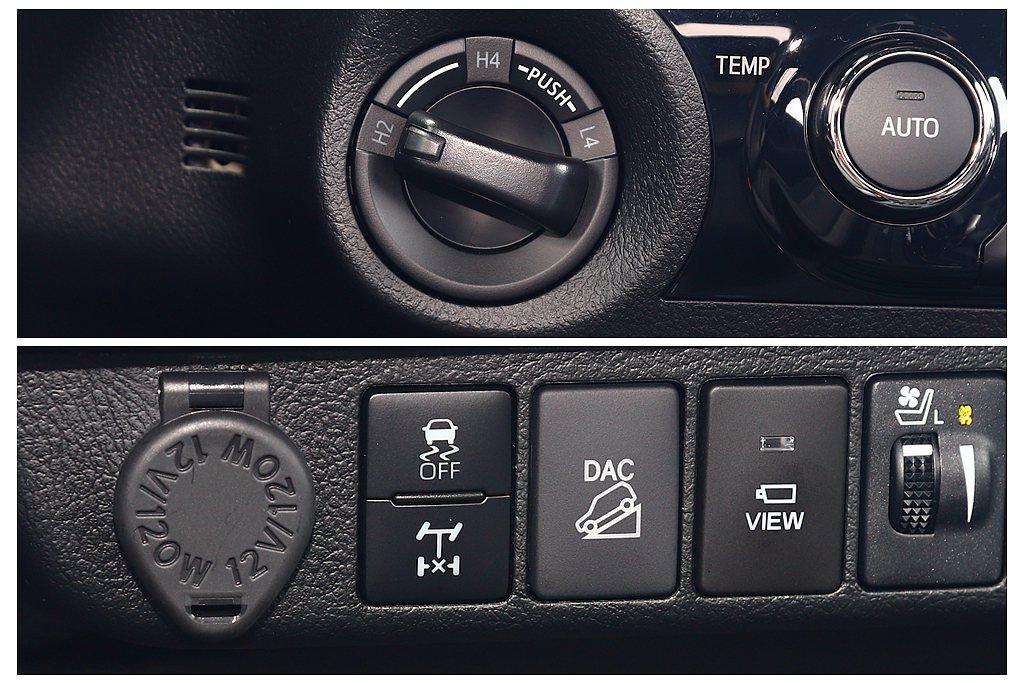 非承載式底盤、後葉片彈簧懸吊以及H2(高速後驅)、H4(高速四驅)、L4(低速四...