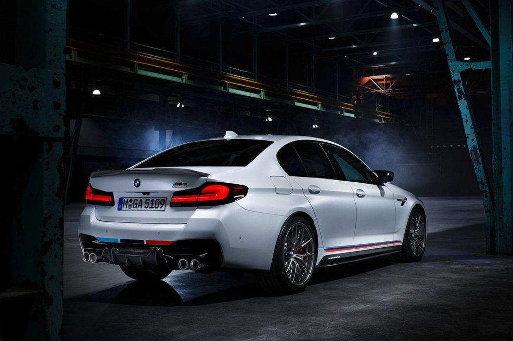 小改款BMW M5 Competition配置專屬的M Performance套...