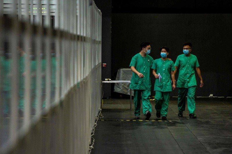 香港新冠肺炎疫情緊張。 法新社