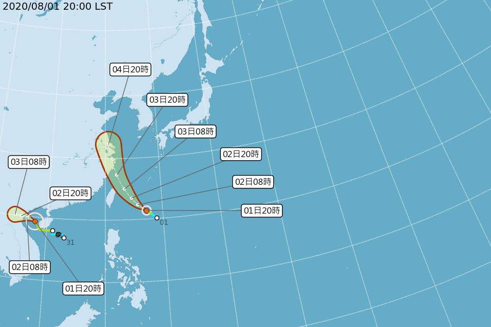 8月第一天就迎雙颱!第四號颱風哈格比生成 明防豪雨
