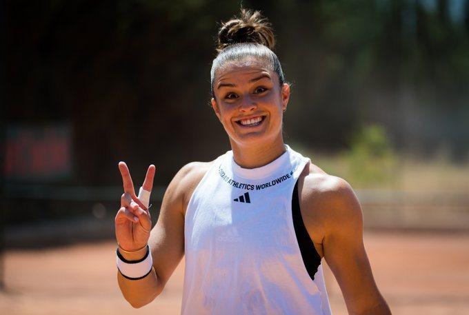 WTA重新復賽無人確診,希臘選手莎卡瑞比YA。 擷圖自巴勒摩女網賽推特
