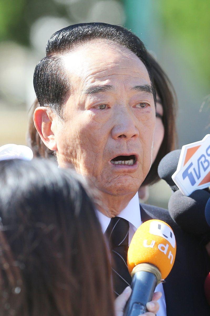 前總統李登輝辭世,親民黨主席宋楚瑜昨天前往北榮悼念。記者季相儒/攝影