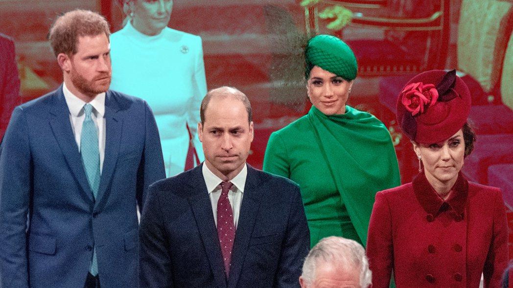 這一次的皇室勤務,兩位王子與妻子間的愛恨情結毫不掩飾呈現。圖/路透資料照片