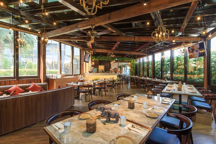 花園thia thai空間氣氛輕鬆自在。圖/台北花園大酒店提供