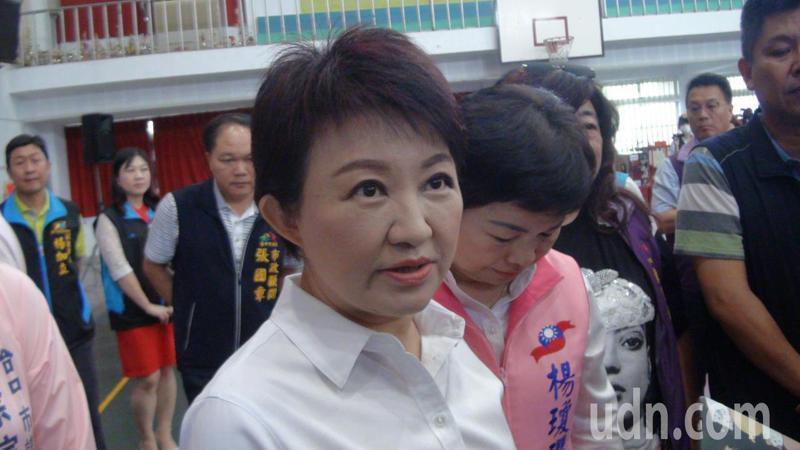 台中市長盧秀燕今日表示,疑似染疫的外籍工程師不在台中,台中市並未接到中央要求疫調。記者余采瀅/攝影