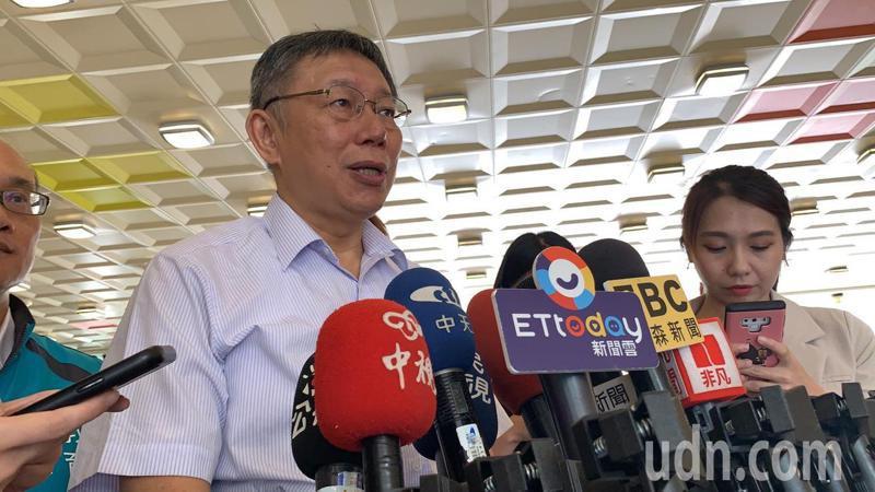 台北市長柯文哲今接受媒體聯訪。記者趙宥寧/攝影