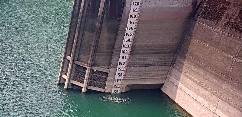 翡翠水庫109年8月1日上午8時水位為154.92公尺。圖/翡管局提供