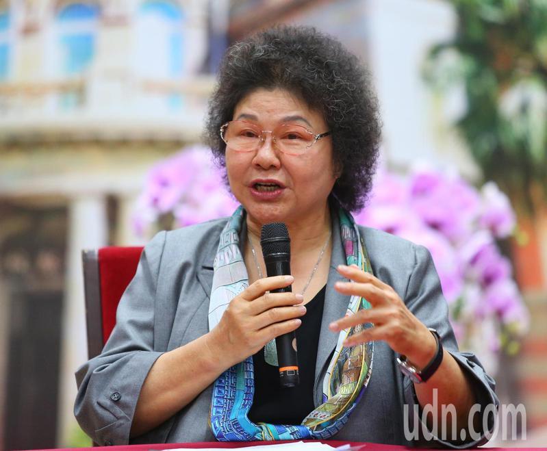 陳菊表示,不能親自到立法院報告、被檢視覺得可惜。記者林澔一/攝影