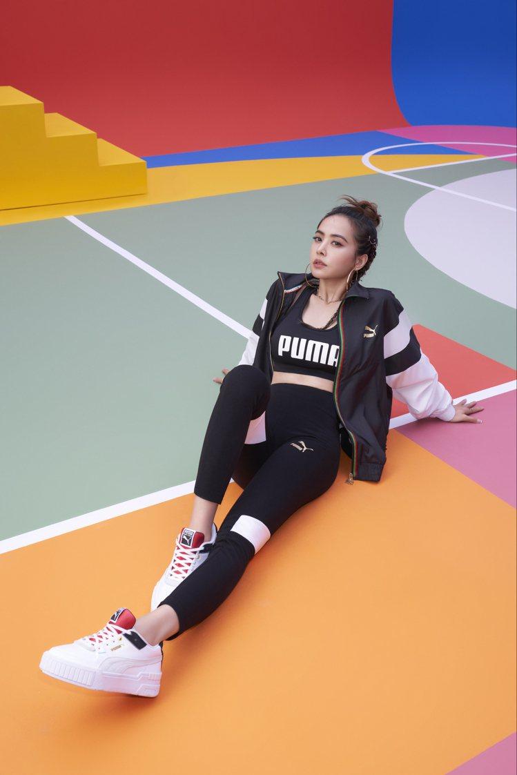 Jolin蔡依林搶先穿上Unity系列風衣外套、緊身褲及Cali sport厚底...