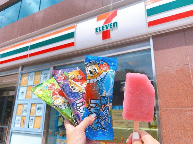 7-ELEVEN即日起至8月25日推出「嘎哩嘎哩君品牌月」,嘎哩嘎哩君剉冰棒系列...