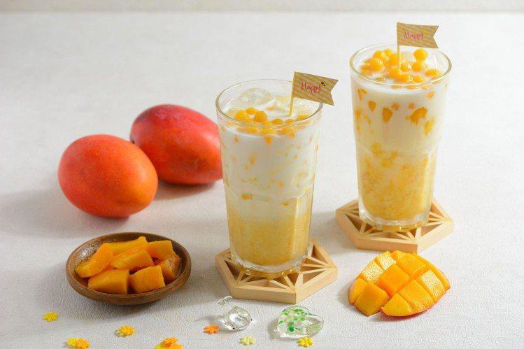 萊爾富新推出「芒果珍珠牛奶」,售價50元、全台限量3萬杯。圖/萊爾富提供