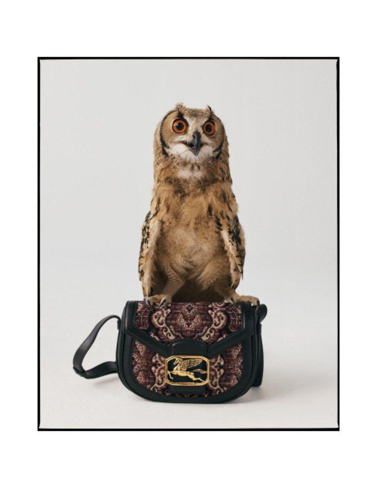 包款上的貓頭鷹相當搶鏡。圖/ETRO提供